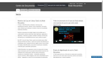 Reconfiguração e digitalização do acervo da Casa de Cultura Tainã / Rede Mocambos