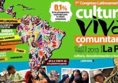 1º Congresso Latino Americano de Cultura Viva Comunitária – La Paz e Mururata